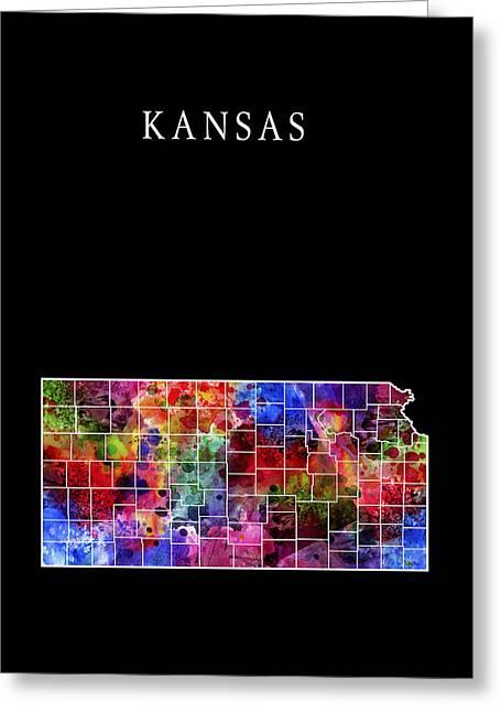 Jayhawk Greeting Cards - Kansas State Greeting Card by Daniel Hagerman