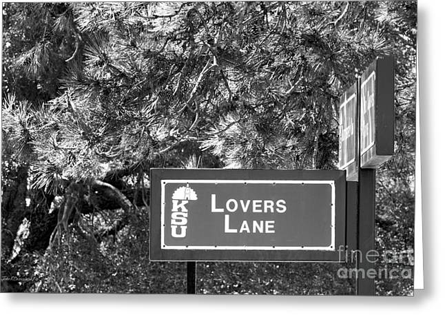Special Occasions Greeting Cards - Kansas State University Lovers Lane Greeting Card by University Icons