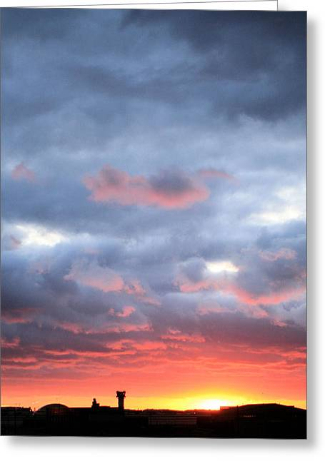 Kansas Sunset Greeting Card by JC Findley