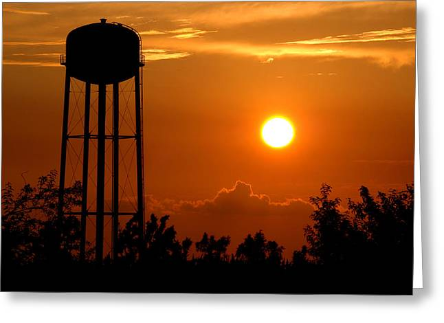 Recently Sold -  - Reserve Greeting Cards - Kansas Sunset Greeting Card by Rob Huntley