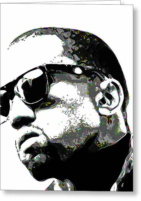 Face Greeting Cards - Kanye West Greeting Card by  Fli Art