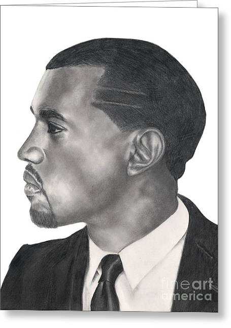 Watch The Throne Greeting Cards - Kanye West Greeting Card by Michael Durocher