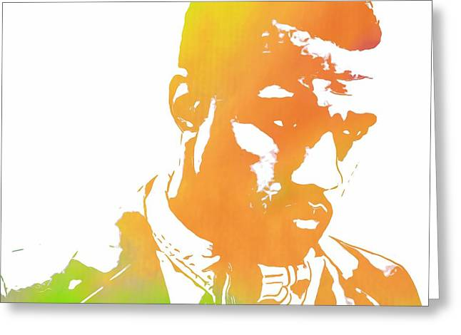 Wealth Mixed Media Greeting Cards - Kanye West Pop Art Greeting Card by Dan Sproul