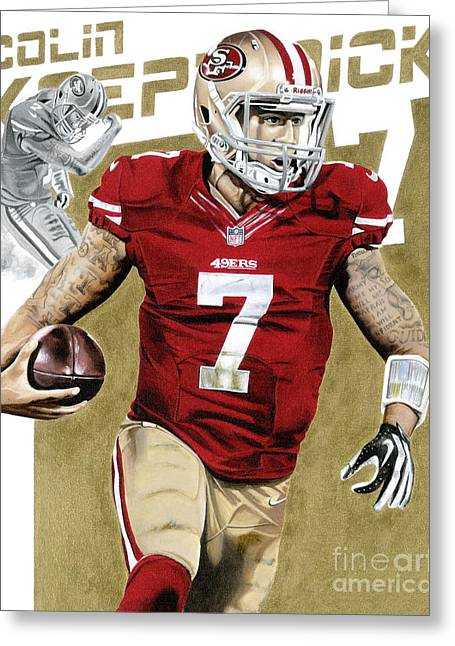 Jerry Rice Greeting Cards - Kap Attack Colin Kaepernick Greeting Card by Joshua Jacobs