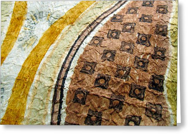 Contemporary Abstract Tapestries - Textiles Greeting Cards - Kapa IV Greeting Card by Dalani Tanahy