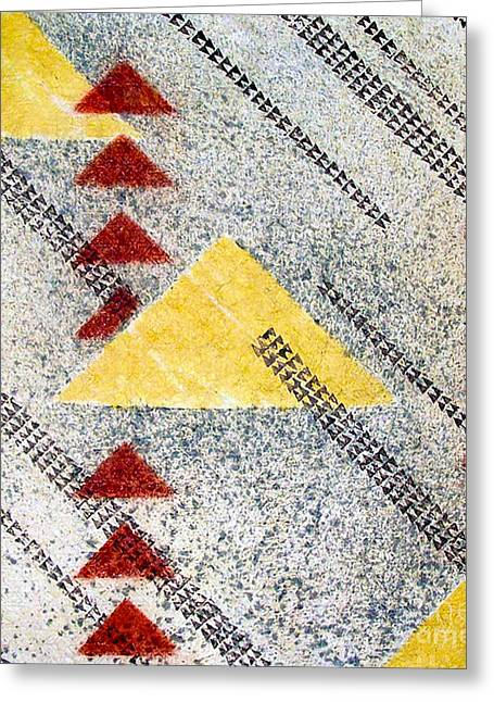 Contemporary Abstract Tapestries - Textiles Greeting Cards - Kapalanui I Greeting Card by Dalani Tanahy