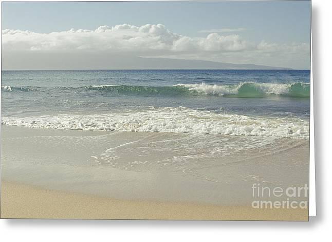 Kapalua - Aia I Laila Ke Aloha - Honokahua - Love Is There - Mau Greeting Card by Sharon Mau