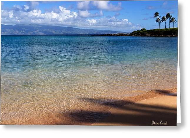 Tropical Oceans Greeting Cards - Kapalua Bay Maui Greeting Card by Heidi Smith