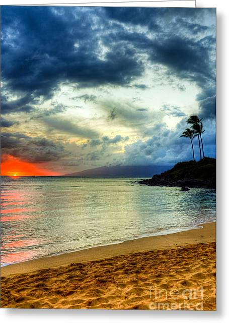 Kapalua Hawaii Sunset Greeting Card by Kelly Wade