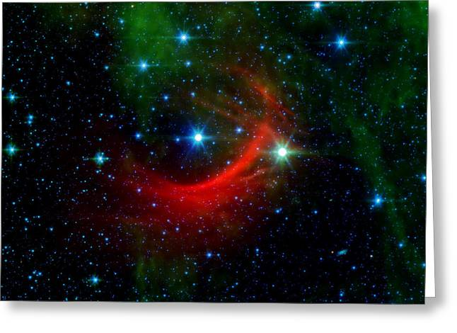 The Cosmos Greeting Cards - Kappa Cassiopeiae Shock Wave Greeting Card by The  Vault - Jennifer Rondinelli Reilly