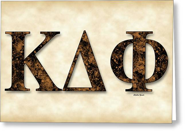 Normal School Greeting Cards - Kappa Delta Phi - Parchment Greeting Card by Stephen Younts