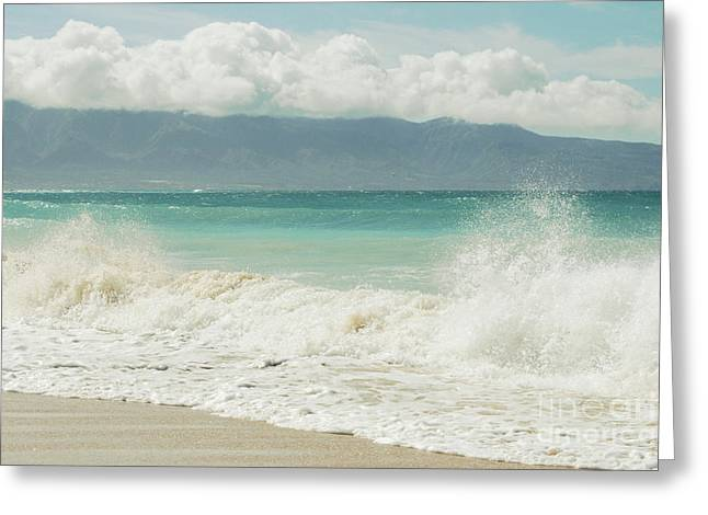 Beach Photography Digital Greeting Cards - Kapukaulua - Purely Celestial Greeting Card by Sharon Mau