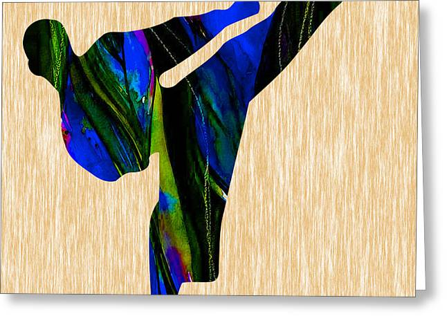 Fitness Greeting Cards - Karate Painting Greeting Card by Marvin Blaine