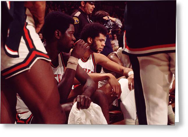 Compete Photographs Greeting Cards - Kareem Abdul Jabbar  Greeting Card by Retro Images Archive