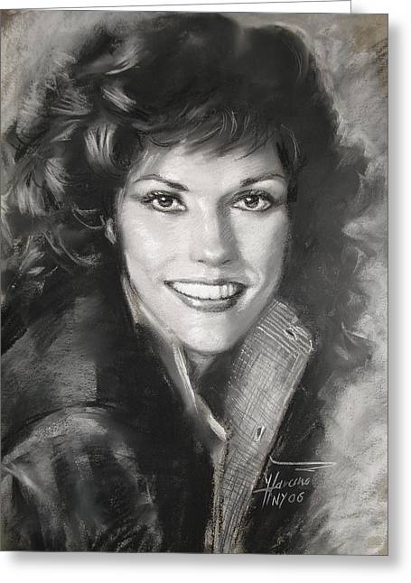 Soft Drawings Greeting Cards - Karen Carpenter Greeting Card by Viola El
