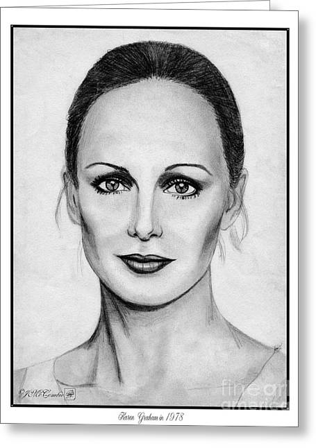 Fame Drawings Greeting Cards - Karen Graham in 1978 Greeting Card by J McCombie
