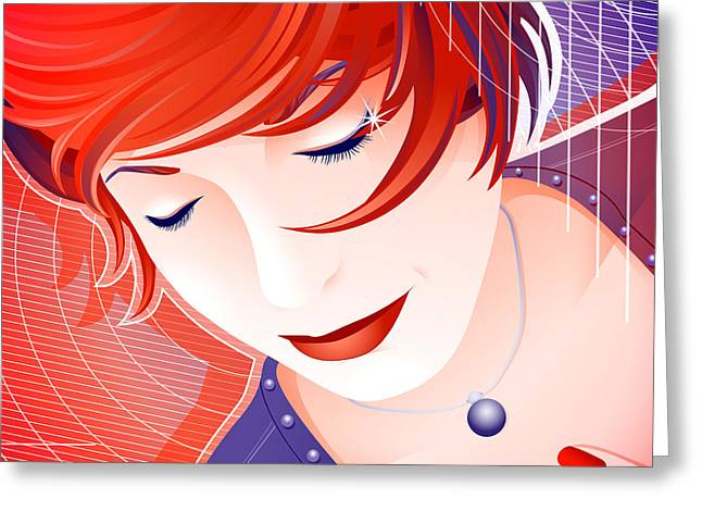 Girl Greeting Cards - Karin Greeting Card by Sandra Hoefer