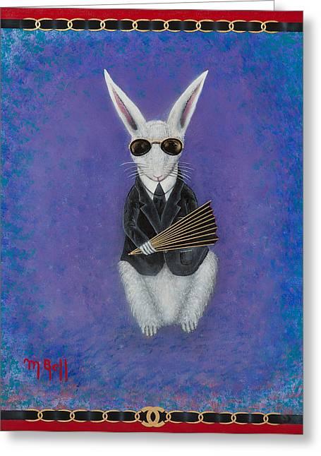 Karl Lagomorph  Greeting Card by Mark Bell