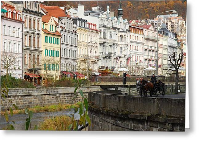 Czechia Greeting Cards - Karlsbad Greeting Card by Hildie Hofmann