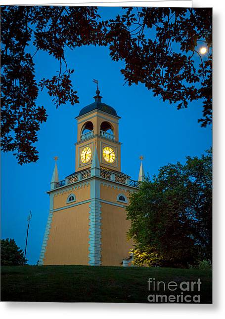 Clocktower Greeting Cards - Karlskrona Clocktower Greeting Card by Inge Johnsson