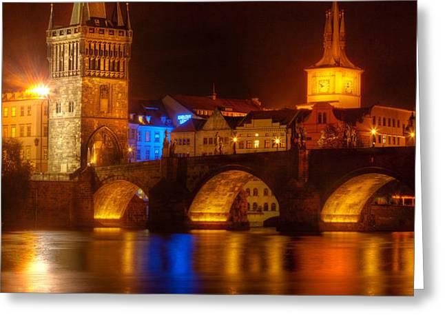 Karluv Most 2-Prague Greeting Card by John Galbo