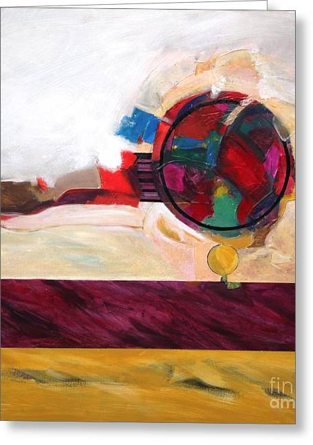 Abstract Movement Greeting Cards - Karma Greeting Card by Marlene Burns