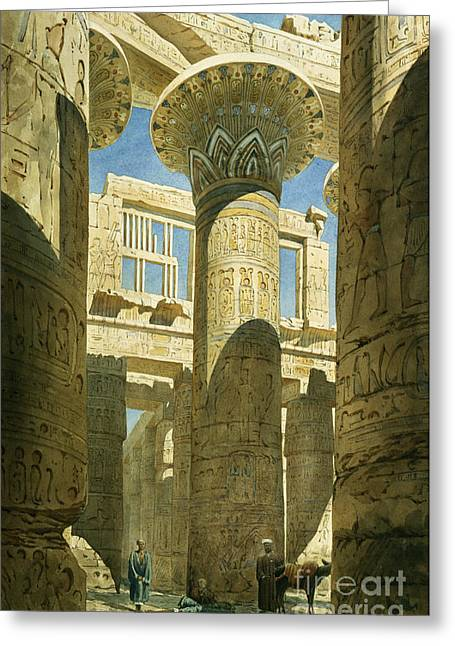 Hieroglyph Greeting Cards - Karnak Greeting Card by Richard Phene Spiers