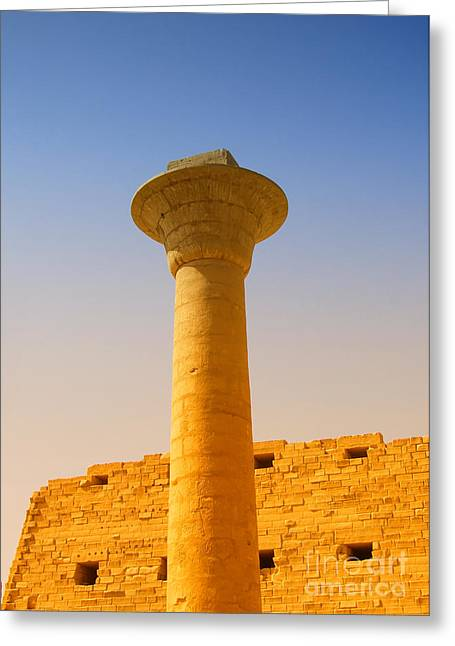Pharaoh Greeting Cards - Karnak Temple 08 Greeting Card by Antony McAulay