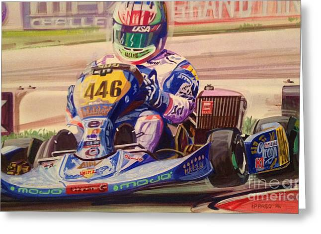 Go Cart Greeting Cards - Karting World Championships Greeting Card by Marco Ippaso