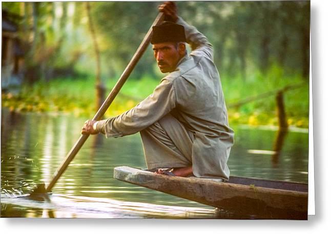 Dal Lake Greeting Cards - Kashmir Dream  Greeting Card by Steve Harrington