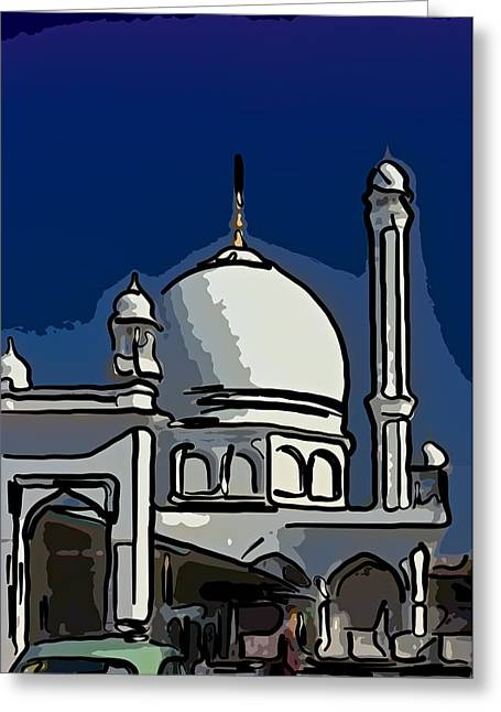 Vale Digital Greeting Cards - Kashmir Mosque 2 Greeting Card by Steve Harrington