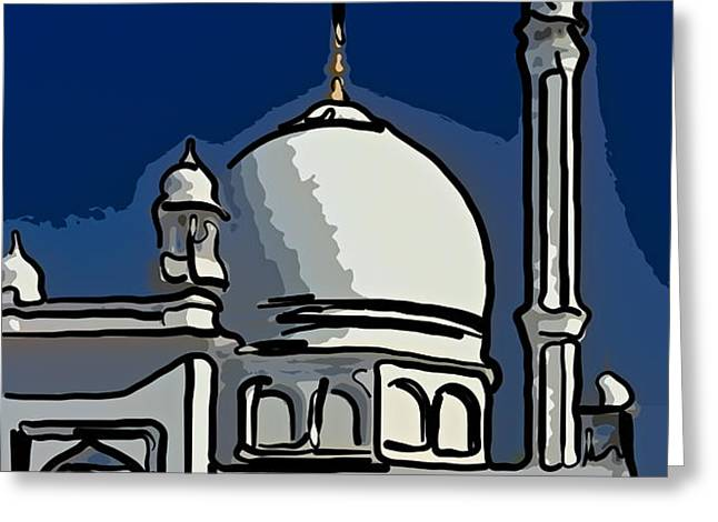 Kashmir Mosque 2 Greeting Card by Steve Harrington