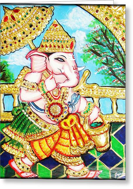 Kami A Greeting Cards - Kasi Yatra Ganesh				 Greeting Card by Jayashree