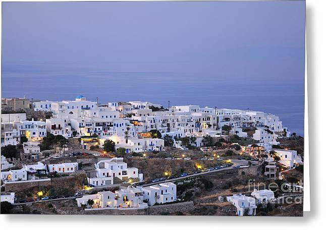 Kastro Village In Sifnos Island Greeting Card by George Atsametakis