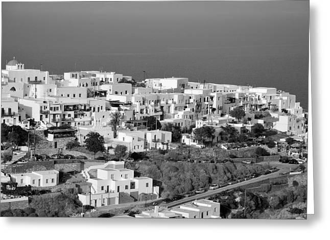 Journey Greeting Cards - Kastro village in Sifnos island Greeting Card by George Atsametakis