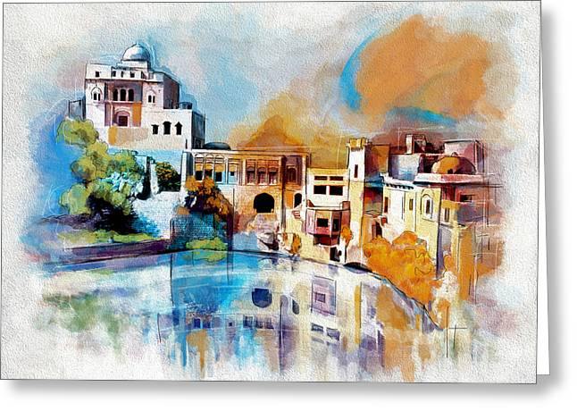 Pakistan Greeting Cards - Katas Raj Temple Greeting Card by Catf