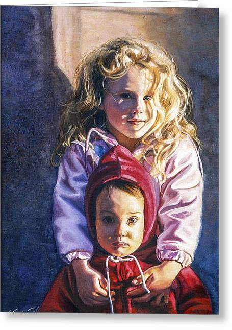St Petersburg Florida Paintings Greeting Cards - Kate and Drew Greeting Card by Kevin Thomas