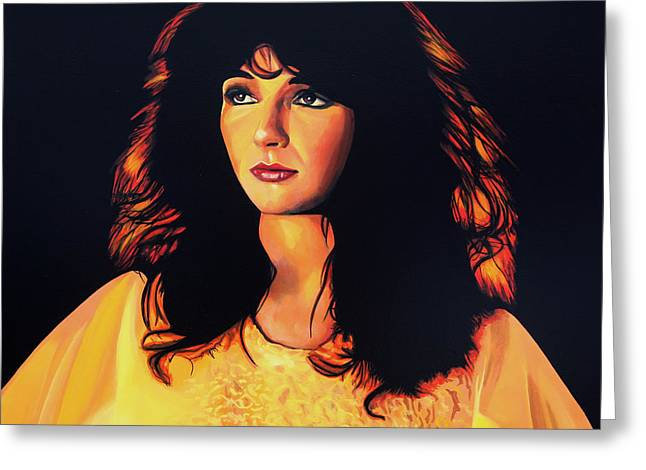 Eclectic Greeting Cards - Kate Bush Greeting Card by Paul  Meijering