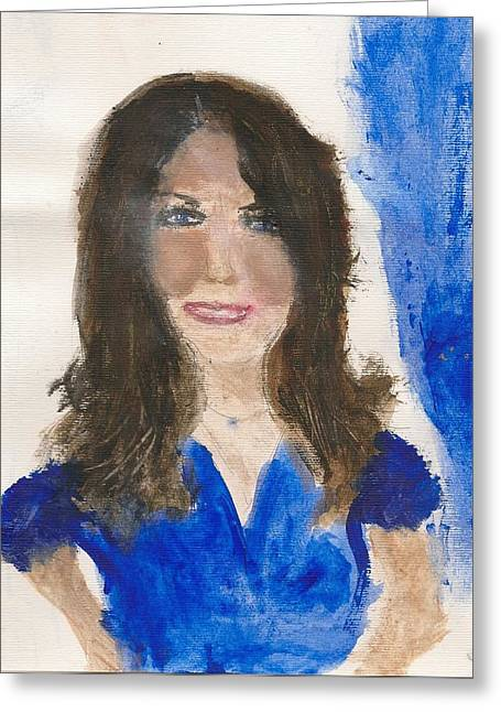 Kate Middleton Greeting Cards - Kate MIddleton Greeting Card by Angela Rose