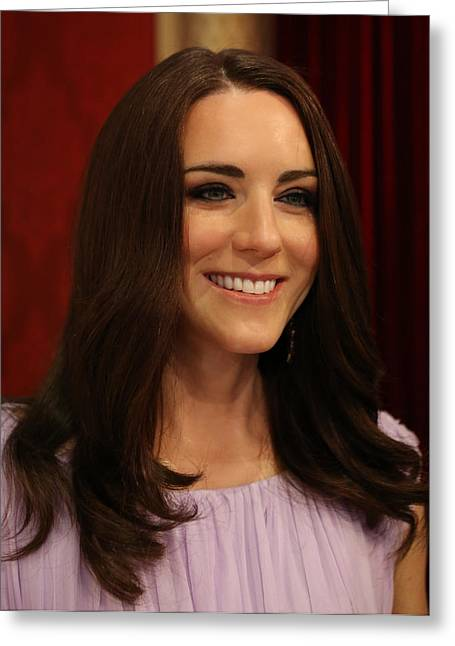 Kate Middleton Greeting Cards - Kate Middleton Duchess of Cambridge Greeting Card by Lee Dos Santos