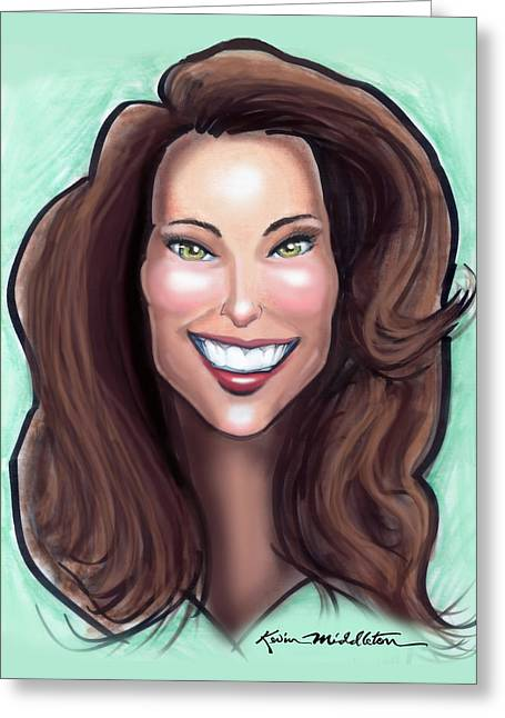 Kate Middleton Paintings Greeting Cards - Kate Middleton Greeting Card by Kevin Middleton