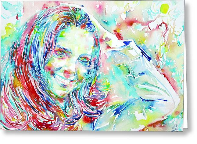 Kate Middleton Paintings Greeting Cards - Kate Middleton Portrait.1 Greeting Card by Fabrizio Cassetta