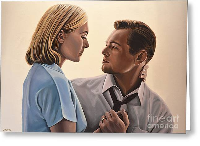 Marvel Comics Greeting Cards - Kate Winslet and Leonardo DiCaprio Greeting Card by Paul  Meijering