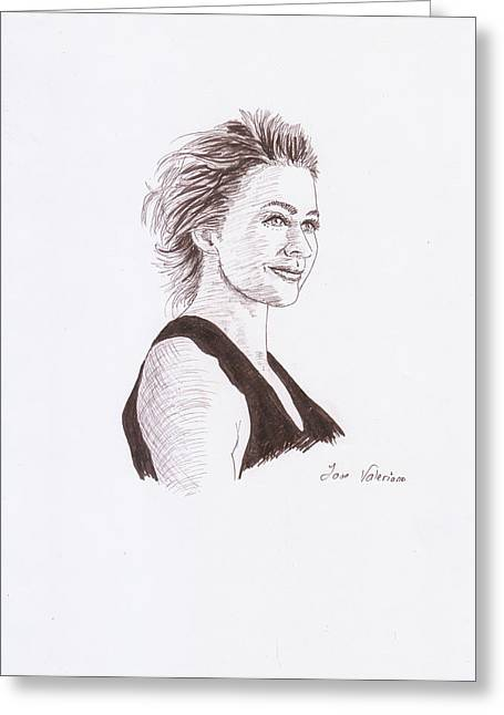 Drawing Greeting Cards - Kate Winslet Greeting Card by Jose Valeriano