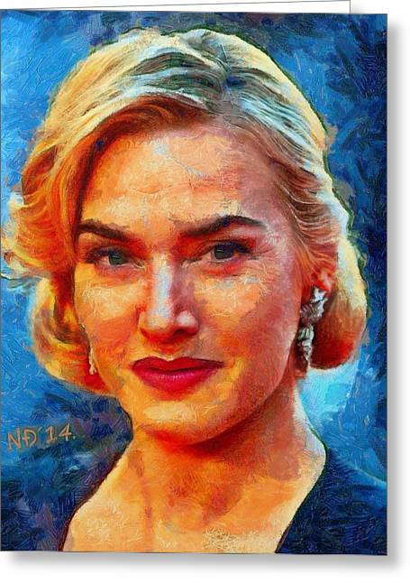 Lucent Dreaming Greeting Cards - Kate Winslet Greeting Card by Nikola Durdevic