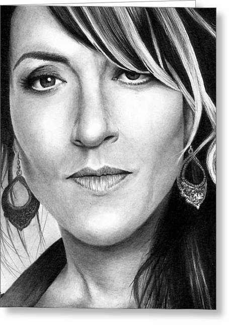 Sons Of Anarchy Greeting Cards - Katey Sagal as Gemma Greeting Card by Rick Fortson