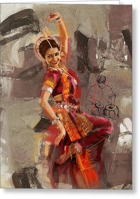 Sufi Dancer Greeting Cards - Kathak Dancer 7 Greeting Card by Catf