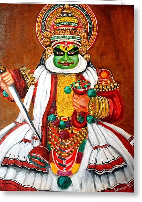 Kathakali Greeting Card by Saranya Haridasan