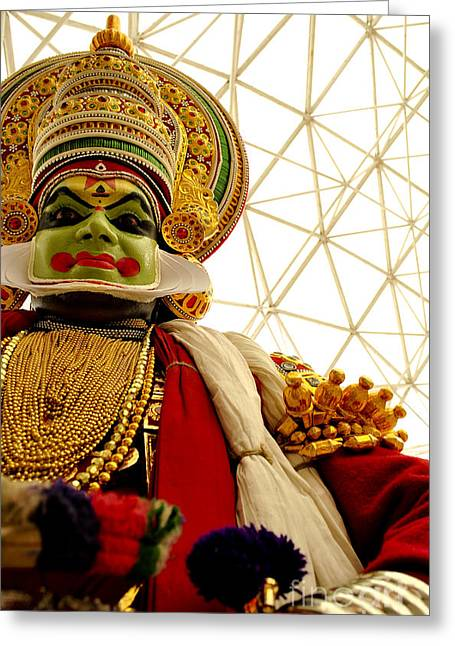 Vineesh Edakkara Greeting Cards - Kathakali Greeting Card by Vineesh Edakkara