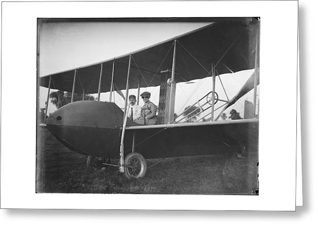 Pilot Greeting Cards - Katharine and Orville Wright in 1915 Greeting Card by MMG Archives